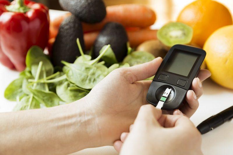 zelenina a měření glukometrem
